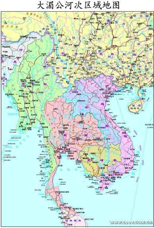 广西河流地图全图
