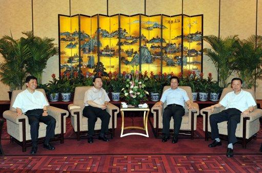 国家电网总经理刘振亚与江苏省领导举行会谈-