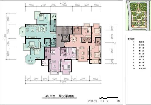 单元平面图_33a3户型单元平面图
