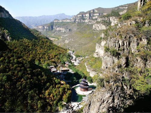 山西省阳泉市盂县藏山风景区-鸟瞰藏山
