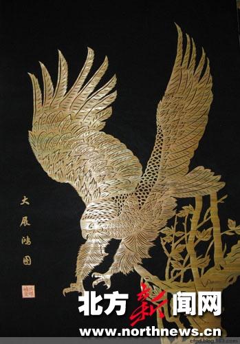 包头市 麦杆画 大展宏图 入选上海世博会