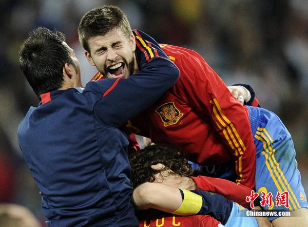 西班牙力克德国 首次闯入决赛