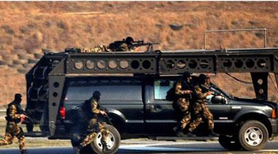 中国武警特战队员冬季练精兵