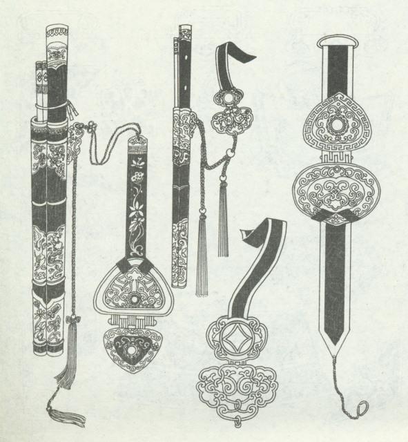 蒙古族靴子,鞋图案,与服饰化边图案风格