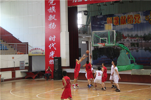 扎兰屯市非公企业纪念建党90周年篮球赛火热上演