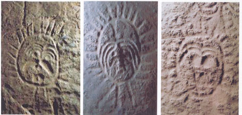 ...岩磐石和悬崖峭壁上的古代游牧人的艺术珍品mm岩画成为历史...