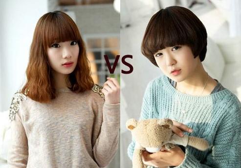可爱女生剪这两款发型显得更加可爱,而成熟点的女生剪这两款发型则
