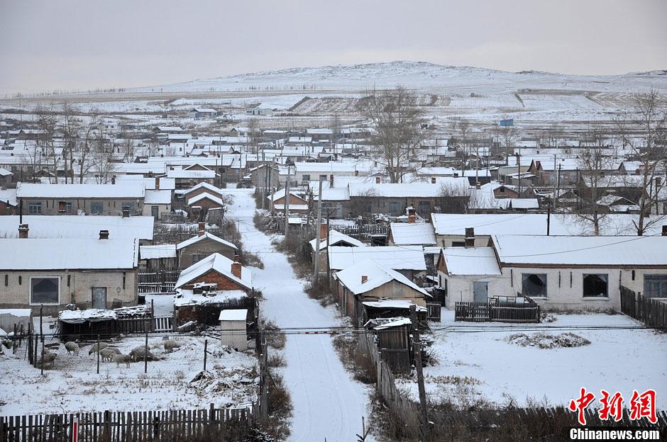 内蒙古呼伦贝尔迎来入冬最低温 局地达-27℃(图)