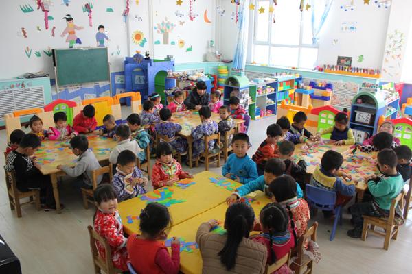 蒙古族幼儿园墙面