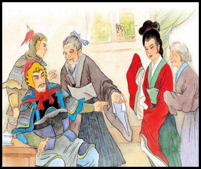 古代美女紫衫公主手绘