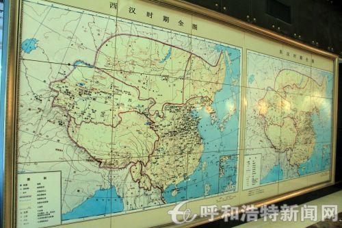 匈奴文化博物馆中两汉时期的地图