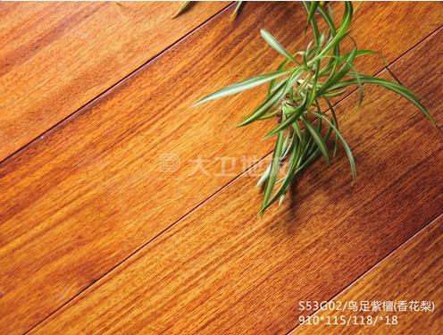 大卫地板23℃纯实木地热系列:鸟足紫檀(香花梨)