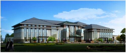 按国家五星级酒店标准投资和规划设计,已经揭顶并完成外立面施工.