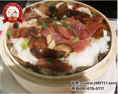 除了煲仔饭系列之外,炙口福的荷香笼仔饭系列也是广受客户欢迎的菜图片