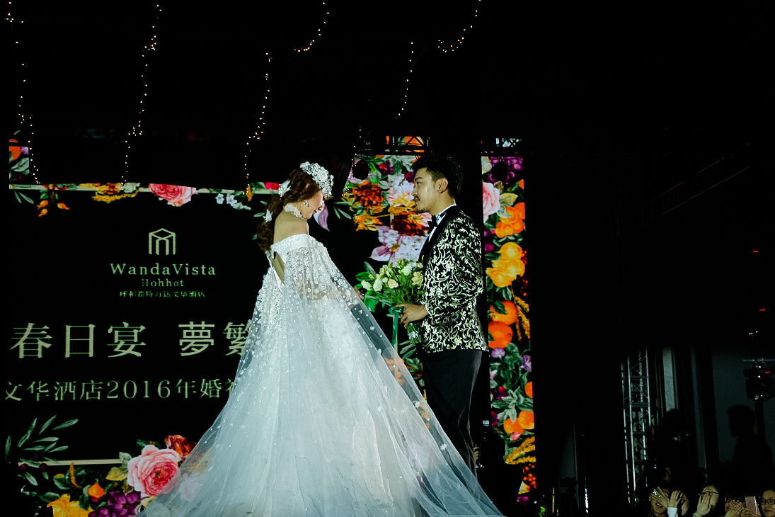 婚礼秀现场将森系与欧式融汇结合