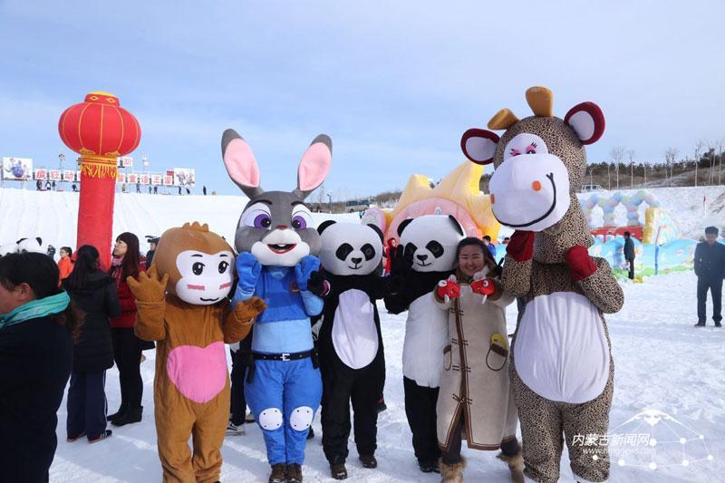疯狂动物城中的小伙伴们也来冰雪嘉年华了