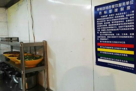厨房色标管理