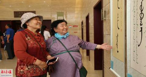 西部五盟市120幅优秀蒙古文书法作品亮相巴彦浩特