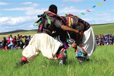 内蒙古第九届少数民族传统体育运动会比赛项目之搏克