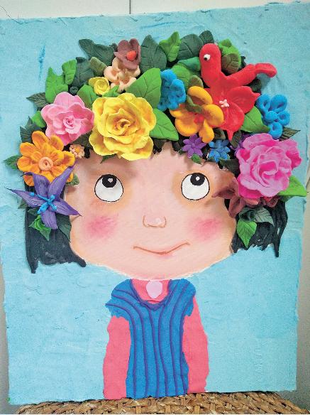 """""""娃娃的梦工厂""""小学员的创意画."""