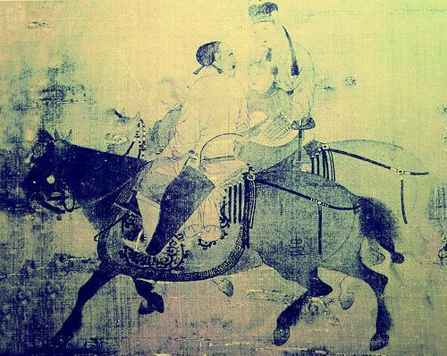 他们一般给两三岁的马打马印,印一般打在马匹的左臀或左髀部位,印纹