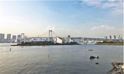 图为互动日本东京湾的彩虹大桥.记者刘军国摄横跨远程知情趣乎图片