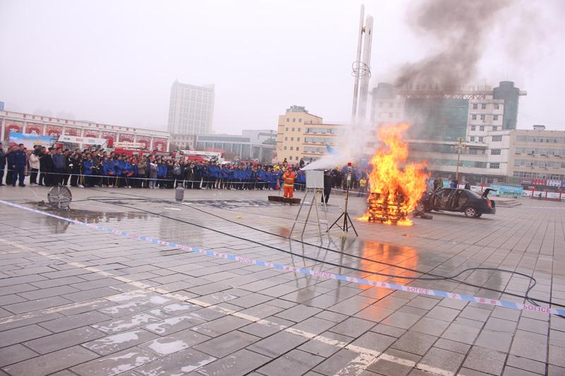 """准格尔旗""""119""""消防宣传月活动启动"""