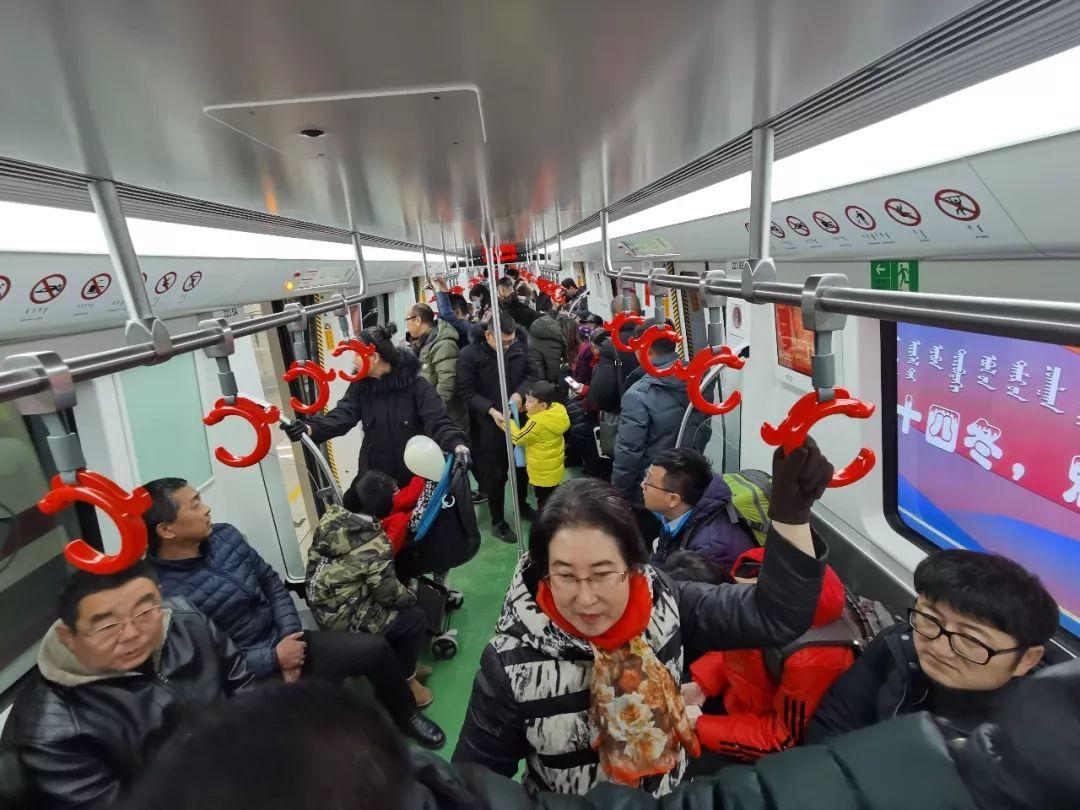 呼和浩特地铁1号线乘车人数首破10万人次