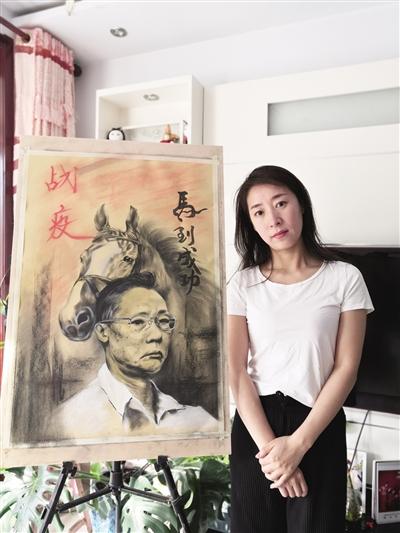 """市民创作画作《战""""疫""""之马到成功》 致敬钟南山"""